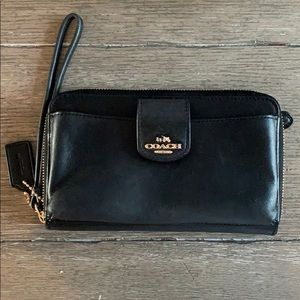 Coach Black Phone Wallet/Wristlet